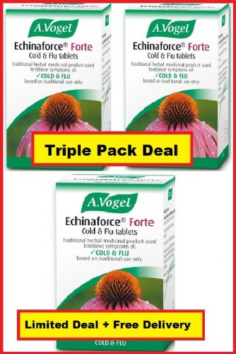 Echinacea A Vogel Echinaforce Forte 40 tablets x 3 - Triple Pack - High Strength
